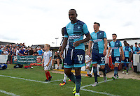 Myles Weston of Wycombe Wanderers comes out for the Friendly match between Maidenhead United and Wycombe Wanderers at York Road, Maidenhead, England on 30 July 2016. Photo by Alan  Stanford PRiME Media Images.