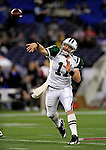 3 December 2009: New York Jets' quarterback Kellen Clemens warms up prior to a game against the Buffalo Bills at the Rogers Centre in Toronto, Ontario, Canada. The Jets defeated the Bills 19-13. Mandatory Credit: Ed Wolfstein Photo