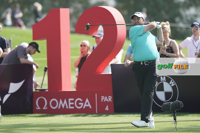Shane Lowry (IRL) in action during the third round of the Omega Dubai Desert Classic, Emirates Golf Club, Dubai, UAE. 26/01/2019<br /> Picture: Golffile | Phil Inglis<br /> <br /> <br /> All photo usage must carry mandatory copyright credit (&copy; Golffile | Phil Inglis)