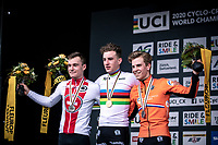 podium:<br /> <br /> 1st place - Ryan Kamp (NED)<br /> 2nd place - Kevin Kuhn (SUI)<br /> 3th place Mees Hendrickx (NED)<br /> <br /> Men's U23 race<br /> UCI 2020 Cyclocross World Championships<br /> Dübendorf / Switzerland<br /> <br /> ©kramon