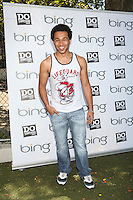 Corbin Bleu celebrates the Bing summer of Doing with dosomething.org by volunteering and restoring CITYarts Mosaic Peace Wall. Harlem, New York. July 10, 2012 © Diego Corredor/MediaPunch Inc.