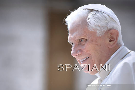 Pope Benedict XVI during his weekly general audience in St. Peter square at the Vatican, Wednesday  April 27 , 2011