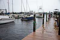 Storm surges and flooding before Hurricane Dorian in Stuart, Fla. on September 2, 2019.