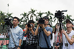 Media during the Press conference for the opening of Boris Becker Tennis Academy at Mission Hills Resort on 19 March 2016, in Shenzhen, China. Photo by Lucas Schifres / Power Sport Images