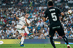 Gareth Bale of Real Madrid shoots to score the first goal for his team during the La Liga 2018-19 match between Real Madrid and CD Leganes at Estadio Santiago Bernabeu on September 01 2018 in Madrid, Spain. Photo by Diego Souto / Power Sport Images