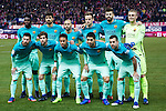 FC Barcelona's defender Samuel Umiti, midfielder Andre Gomes, defender Javier Mascherano, midfielder Ivan Rakitic, defender Gerard Pique, goalkeeper Jasper Cilissen, forward Leo Messi, defender Sergi Roberto, forward Neymar Santos Jr, forward Luis Suarez  and defender Jordi Alba during the match of Copa del Rey between Atletico de  Madrid and Futbol Club Barcelona at Vicente Calderon Stadium in Madrid, Spain. February 1st 2017. (ALTERPHOTOS/Rodrigo Jimenez)