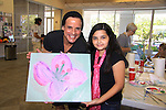 Young and Restless Christian LeBlanc and Sereen paintsand donates time at SoapFest's Celebrity Weekend - Art for Autism when the actors & kids make paintings for auction to benefit Autism on November 10, 2012 Marco Island, Florida. For info www.autism-society.org or www.autismspeaks.org. (Photo by Sue Coflin/Max Photos)