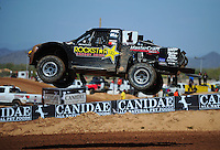 Apr 15, 2011; Surprise, AZ USA; LOORRS driver Rob MacCachren (1) during round 3 and 4 at Speedworld Off Road Park. Mandatory Credit: Mark J. Rebilas-.