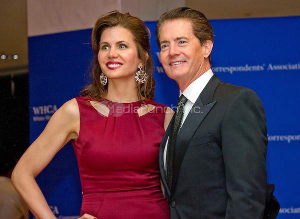 Kyle MacLachlan, right, and Desiree Gruber arrive for the 2016 White House Correspondents Association Annual Dinner at the Washington Hilton Hotel on Saturday, April 30, 2016.<br /> Credit: Ron Sachs / CNP<br /> (RESTRICTION: NO New York or New Jersey Newspapers or newspapers within a 75 mile radius of New York City)/MediaPunch