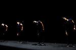 AUTARCIE....Chorégraphe / Choreographer : Anne Nguyen..Assistant chorégraphe / Choreographic Assistant : Aragorn Boulanger..Interprètes / Dancers : Magali Duclos, Linda Hayford, Valentine Nagata-Ramos, Anne Nguyen..Bande originale (composition et interprétation percussions) / Original soundtrack (Composer and Percussionist) : Sébastien Lété..Création lumière / Lighting design : Ydir Acef..Conseil artistique / Artistic counsel : Jim Krummenacker..Costumes (création originale) / Costumes designed by : Courrèges..Festival Les incandescences..Théâtre au fil de l'eau..Pantin..Le 10/04/2013..© Laurent Paillier / photosdedanse.com