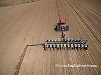 63801-10107 Farmer planting corn-aerial Marion Co. IL