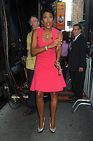 NEW YORK, NY - August 20, 2012: Robin Roberts host of Good Morning America back from vacation in New York City. August 20, 2012. &copy; RW/MediaPunch Inc. /NortePhoto.com<br />
