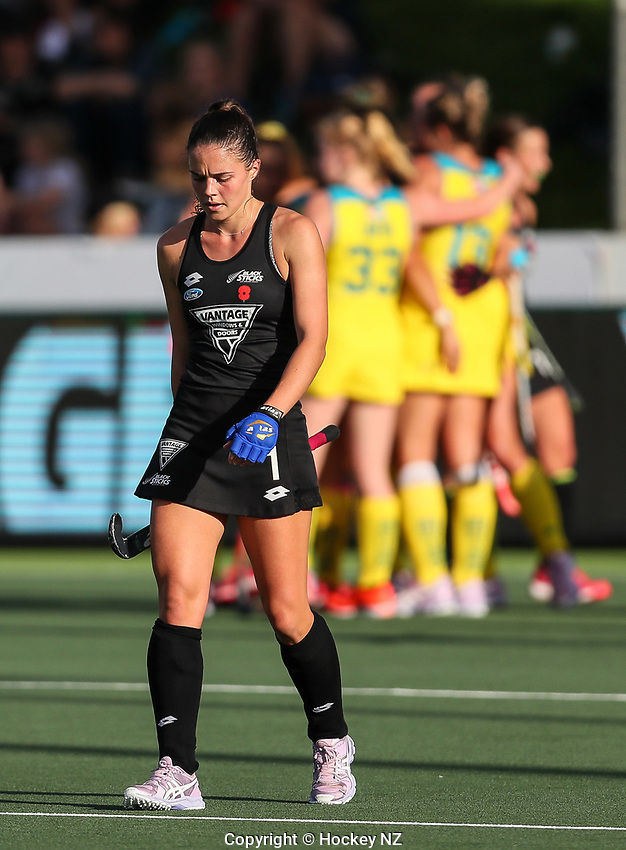 Tarryn Davey. Pro League Hockey, Vantage Blacksticks Women v Australia, ANZAC Hockey test. North Harbour Hockey Stadium, Auckland, New Zealand. Thursday 25 April 2019. Photo: Simon Watts/Hockey NZ