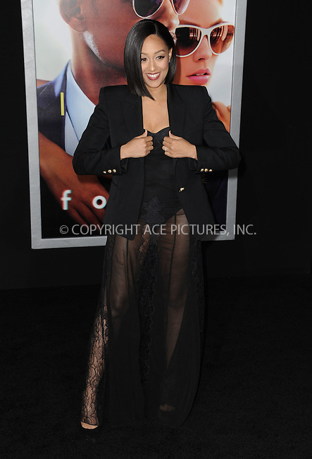 WWW.ACEPIXS.COM<br /> <br /> February 24 2015, New York City<br /> <br /> Tia Mowry-Hardrick arriving at the premiere of 'Focus' at the TCL Chinese Theatre on February 24, 2015 in Hollywood, California.<br /> <br /> By Line: Peter West/ACE Pictures<br /> <br /> <br /> ACE Pictures, Inc.<br /> tel: 646 769 0430<br /> Email: info@acepixs.com<br /> www.acepixs.com