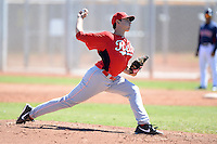 Cincinnati Reds pitcher Zack Weiss (62) during an instructional league game against the Cleveland Indians on September 28, 2013 at Goodyear Training Complex in Goodyear, Arizona.  (Mike Janes/Four Seam Images)