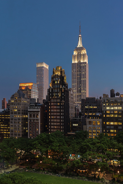 Lighted Tops Over Bryant Park<br />