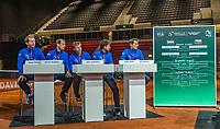 The Hague, The Netherlands, September 13, 2017,  Sportcampus , Davis Cup Netherlands - Chech Republic, Draw, Dutch team<br /> Photo: Tennisimages/Henk Koster