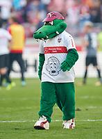 VFB Maskottchen Fritzle <br /> VFB STUTTGART - FC AUGSBURG 0-0<br /> Football 1. Bundesliga , Stuttgart,23.09.2017, 6. match day,  2017/2018, 1.Liga, 1.Bundesliga,<br />  *** Local Caption *** © pixathlon<br /> Contact: +49-40-22 63 02 60 , info@pixathlon.de