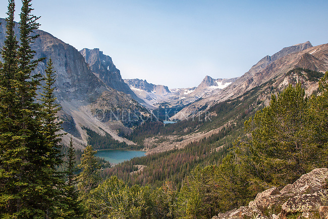 looking up the drainage to keyser brown and first rock lakes in the absaroka beartooth wilderness in montana