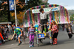 WATERBURY, CT - 08 OCTOBER 2017 -101417JW12.jpg -- The Ion Bank team does its own leisurely pace during the 2017 United Way Bed Race Fundraiser Saturday afternoon. Jonathan Wilcox Republican-American