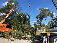 2017 FPL Hurricane Irma restoration in Sarasota County, Fla. on Sept. 13, 2017.