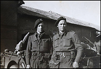 BNPS.co.uk (01202 558833)<br /> Pic: Bellmans/BNPS<br /> <br /> Lance Corporal William James Cooke (right).<br /> <br /> A fascinating trove of SAS records including some of the first photographs of the elite force which have never been seen before has been unearthed. <br /> <br /> The extensive assortment, also including medals and documents, was accumulated by war hero Lance Corporal William James Cooke at the end of World War Two. <br /> <br /> Remarkable images of Cooke's previously unrevealed wartime exploits show him serving behind enemy lines in occupied France and assisting with the liberation of Norway. <br /> <br /> His accomplishments have come to light after a family member presented the bequeathed collection to Hampshire-based auctioneer Bellmans, which will sell it tomorrow.
