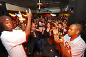 Rebirth Brass Band members get the crowd pumped with their loud music at the Maple Leaf, Tuesday night, March 22, 2005..(Cheryl Gerber Photo)Rebirth Brass Band
