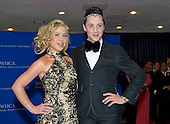 Tara Lipinski and Johnny Weir arrive for the 2015 White House Correspondents Association Annual Dinner at the Washington Hilton Hotel on Saturday, April 25, 2015.<br /> Credit: Ron Sachs / CNP