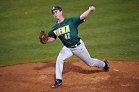 Siena Saints starting pitcher Tom Miller (42) delivers a pitch during a game against the Stetson Hatters on February 23, 2016 at Melching Field at Conrad Park in DeLand, Florida.  Stetson defeated Siena 5-3.  (Mike Janes/Four Seam Images)