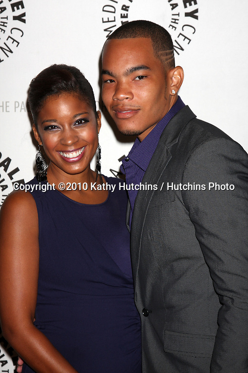 """LOS ANGELES - SEP 23:  Reagan Gomez-Preston & DeWayne Turrentine arrives at """"The Cleveland Show"""" DVD Release Party & Panel DIscussion  at Paley Center for Media on September 23, 2010 in Beverly Hills, CA"""