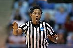 23 March 2015: Referee Rachelle Jones. The University of North Carolina Tar Heels hosted the Ohio State University Buckeyes at Carmichael Arena in Chapel Hill, North Carolina in a 2014-15 NCAA Division I Women's Basketball Tournament second round game. UNC won the game 86-84.