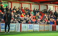 Blackpool's first team coach Richie Kyle watches on during the second half<br /> <br /> Photographer Alex Dodd/CameraSport<br /> <br /> EFL Checkatrade Trophy - Northern Section Group B - Accrington Stanley v Blackpool - Tuesday 3rd October 2017 - Crown Ground - Accrington<br />  <br /> World Copyright &copy; 2018 CameraSport. All rights reserved. 43 Linden Ave. Countesthorpe. Leicester. England. LE8 5PG - Tel: +44 (0) 116 277 4147 - admin@camerasport.com - www.camerasport.com