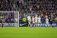 5th March 2020, Orlando, Florida, USA;  the United States forward Megan Rapinoe (15) takes a free kick during the SheBelieves Cup match between England and the USA on March 5, 2020, at Exploria Stadium in Orlando FL.