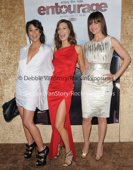 Emmanuelle Chriqui,Perrey Reeves & Carla Gugino at the HBP Premiere of The 7th Season of Entourage held at Paramount Picture Studios in Hollywood, California on June 16,2010                                                                               © 2010 Debbie VanStory / Hollywood Press Agency
