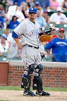 August 9, 2009:  Catcher Kyle Phillips of the Las Vegas 51s during a game at Wrigley Field in Chicago, IL.  Las Vegas is the Pacific Coast League Triple-A affiliate of the Toronto Blue Jays.  Photo By Mike Janes/Four Seam Images
