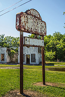 Avon Motel from the 1930's ruins along Route 66 in Afton Oklahoma.