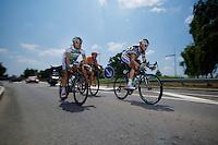Lieuwe Westra (NLD) pulling hard in the breakaway<br /> <br /> stage 10: Saint-Gildas-des-Bois to Saint-Malo<br /> 197km