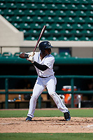 Detroit Tigers Jeremiah Burks (18) at bat during a Florida Instructional League game against the Pittsburgh Pirates on October 6, 2018 at Joker Marchant Stadium in Lakeland, Florida.  (Mike Janes/Four Seam Images)