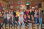Mike Cronin Currow seated centre celebrated his 21st birthday in the Kingdom House bar Castleisland with his friends and family on Friday night