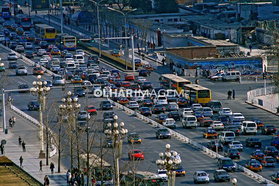Congestionamento de trânsito na cidade de Pequim. China. 2007. Foto de Flávio Bacellar.