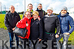 Past players and family members attending the appreciation soccer match for Frank Sheridan of Marian Park for his years of dedicated service to soccer. Front l to r: Joan Kerins O'Keefe, Joan Sheridan, Andy Keane and Billy Cartlidge. <br /> Back, Fred Cartlidge, Joe Sheridan and Paudi O'Shea.