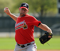 17 March 2009: Todd Redmond of the Atlanta Braves at Spring Training camp at Disney's Wide World of Sports in Lake Buena Vista, Fla. Photo by:  Tom Priddy/Four Seam Images