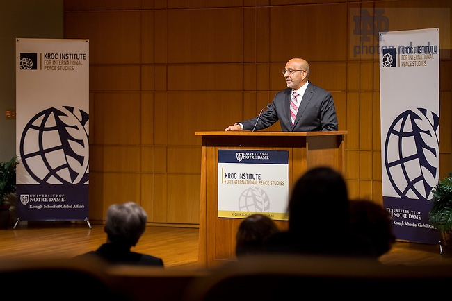 October 24, 2016; Kroc Institute Fatemeh Keshavarz Lecture (Photo by Matt Cashore/University of Notre Dame)