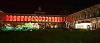 Il FuoriSalone 2010 nelle vie di centrali Milano, Università Statale..Courtyard of State University in Milan