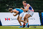 Swire Properties plays Holman Fenwick Willan during the Swire Properties Touch Tournament at King's Park Sports Ground on 13th September 2014 in Hong Kong, China . Photo by Victor Fraile / Power Sport Images