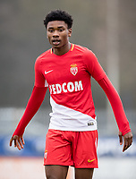 Khephren Thuram-Ulien of AS Monaco FC Youth during the UEFA Youth League round of 16 match between Tottenham Hotspur U19 and Monaco at Tottenham Hotspur Training Ground, Hotspur Way, England on 21 February 2018. Photo by Andy Rowland.