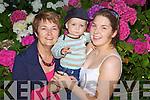 Paula Rogers, Luke Kennedy, Eimear Rogers, Annascaul enjoying the Rose of Tralee festivities at Pearse Park  on Friday.