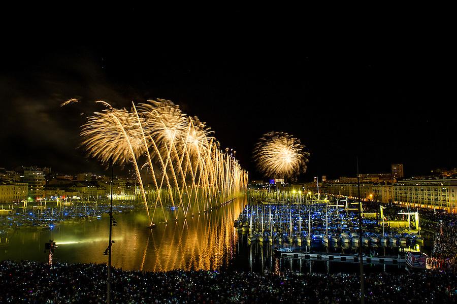 Feu d'artifice du 14 juillet 2014 - Vieux-Port - Marseille