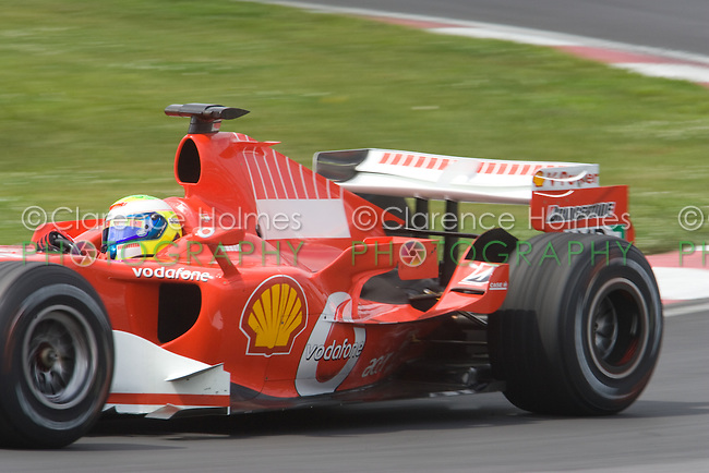 MONTREAL - JUNE 23: Felipe Massa of Ferrari on the track during the second practice session on the Friday prior to race weekend of the Canadian F1 Grand Prix at the Circuit Gilles-Villeneuve June 23, 2006 in Montreal, Canada.