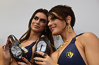 SAO PAULO, 26 DE JUNHO - PANICATS NA FRANCAL - Panicats Babi, Renata e  em ação promocional da marca Calvest, no primeiro dia da Francal, no Anhembi, na tarde desta terca feira, regiao norte da capital. FOTO: ALEXANDRE MOREIRA - BRAZIL PHOTO PRESS